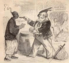 "British ""merchants"" forced Chinese into opium addiction at gunpoint"