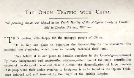 The Opium Traffic with China